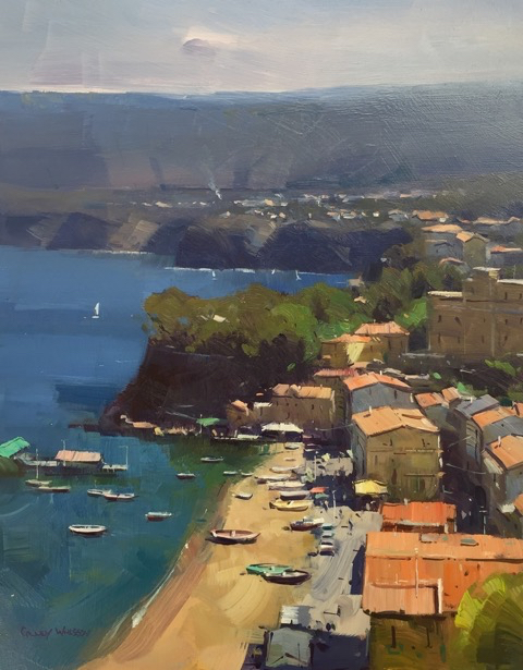 Sorrento Marina, Italy, 18x14, oil