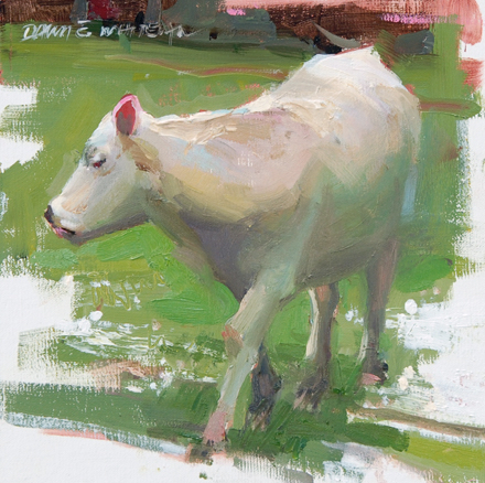SOLD - Moo Phases II, 8x8, oil
