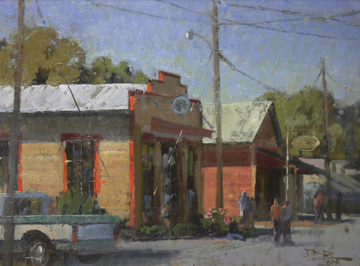 SOLD - Across the Street 18x24, oil
