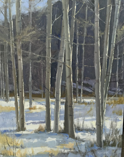 SOLD - Birch Trees, 18x14, oil
