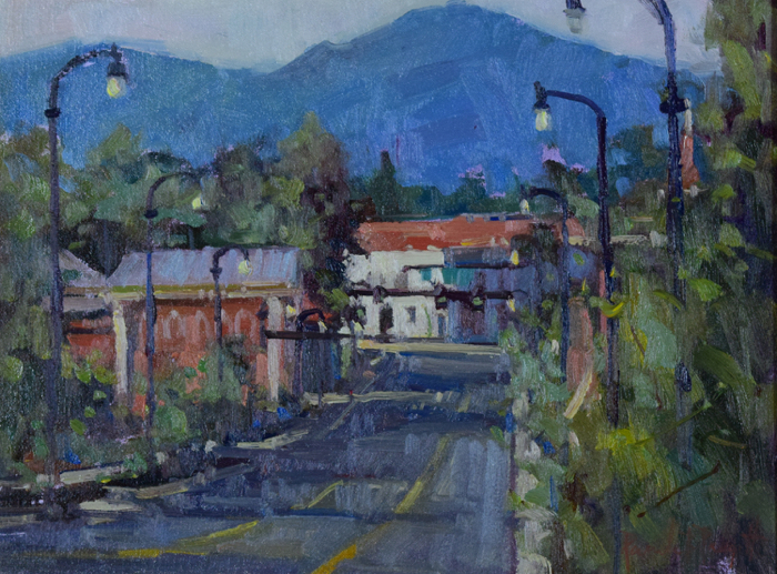 Downtown Franklin, 12X16, oil