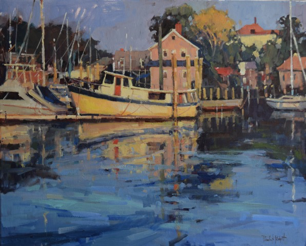 SOLD Harbor Lady, 24x30, oil