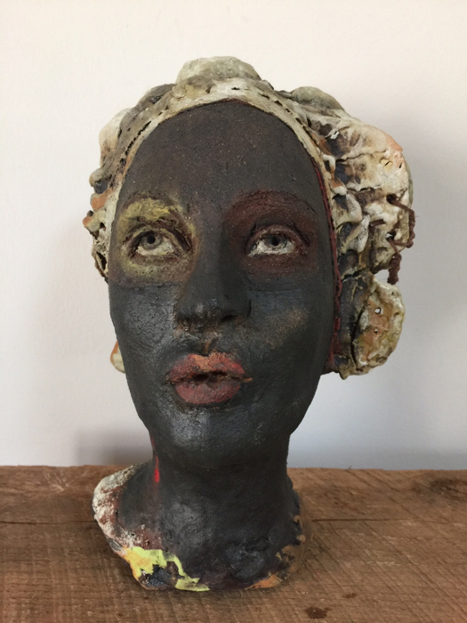 SOLD Listening to the Silence, 9x6, ceramic sculpture