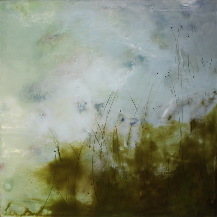 Sunday Morning, 36x36, encaustic