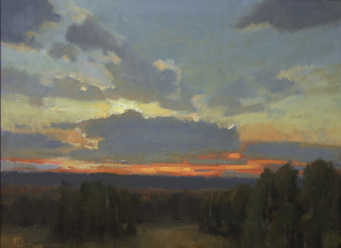 SOLD - Tennessee Sunset 18x24, oil