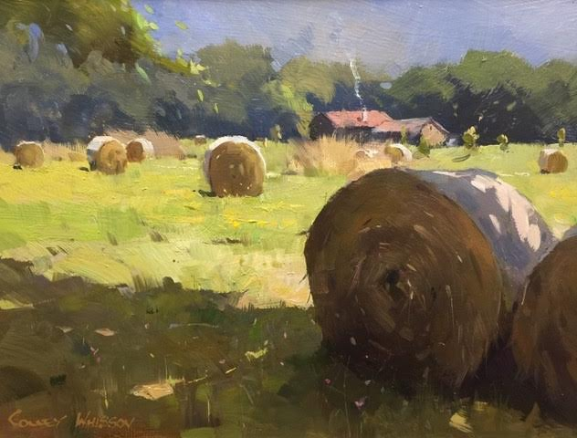 A Sunlit Field, 9x12, oil