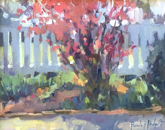 SOLD - First Color in the Garden, 8x10, oil