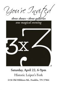 3x3 Featuring Roger Dale Brown, OPA @ Leiper's Creek Gallery | Franklin | Tennessee | United States