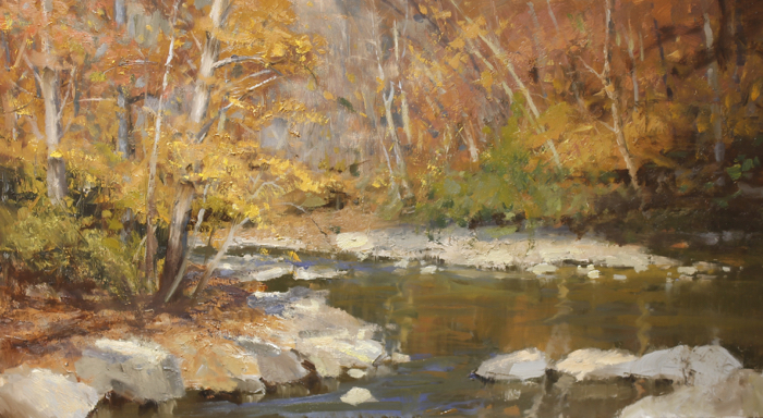 Tennessee Fall, 22x40, oil