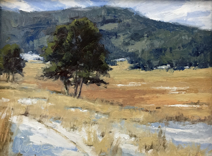 Hiking Colorado, 12x16, oil