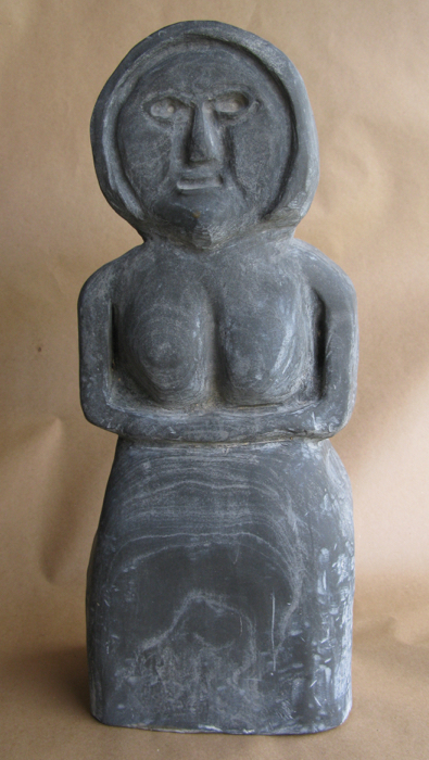 SOLD - Singing Lady, 20x8x5, slate