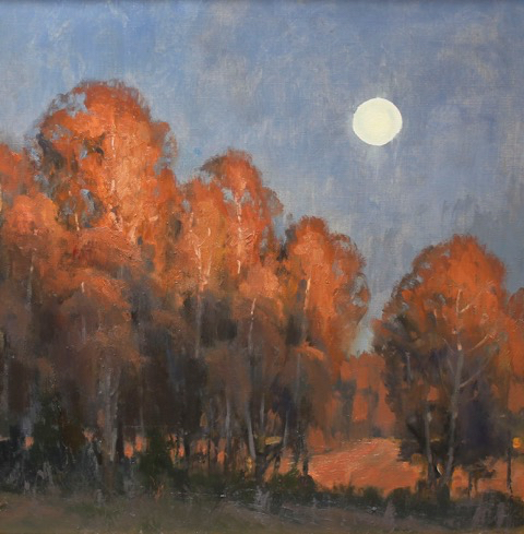 SOLD - Sun Lit and Moon Light, 24x24, oil
