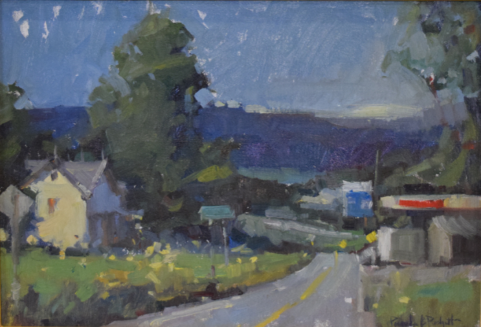 Drive Thru Yesterday, 11x14 , oil