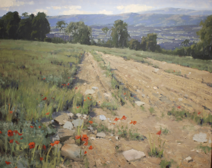 SOLD - Overlooking the Valley, 48x60, oil