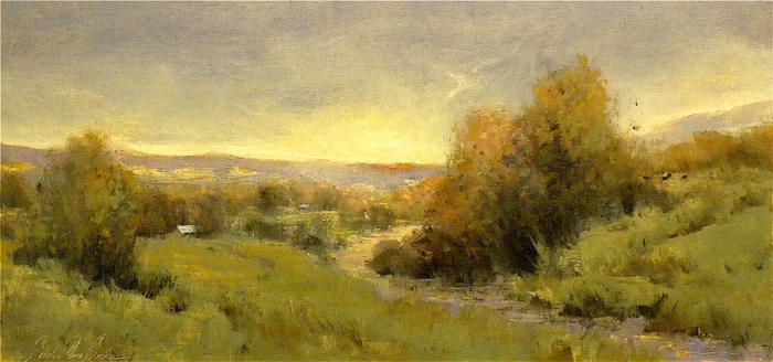 Scent of Spring Grass after a Rain, 12x24, oil on linen