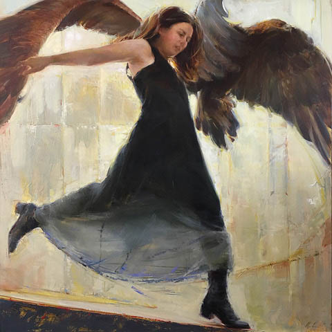 SOLD - Free - A Portrait of an Artist, 48x48, oil on Belgian linen
