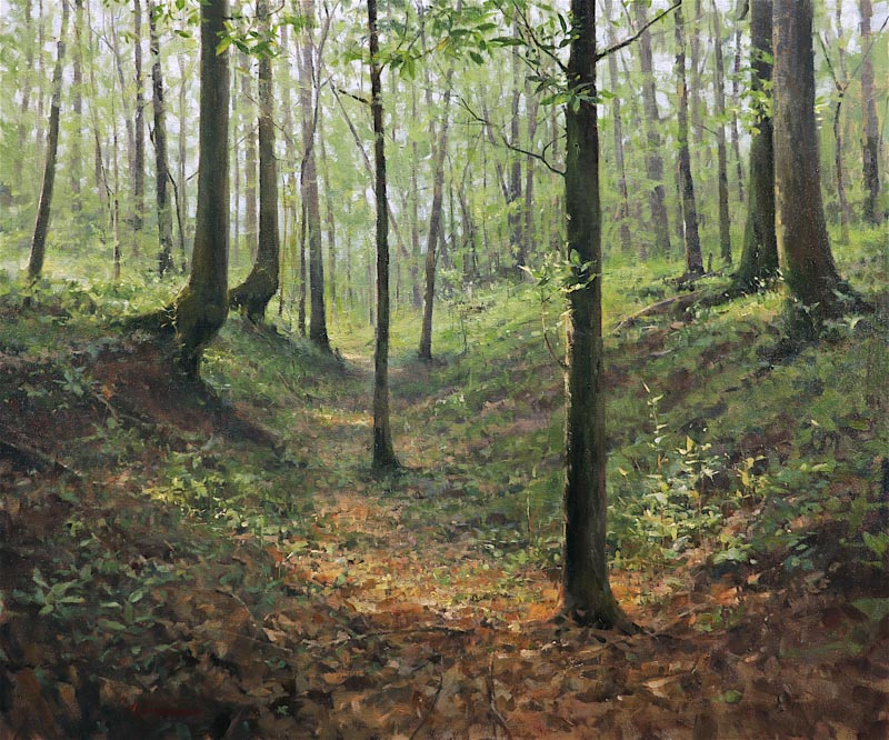SOLD - Woodland Interior., 30x36, oil
