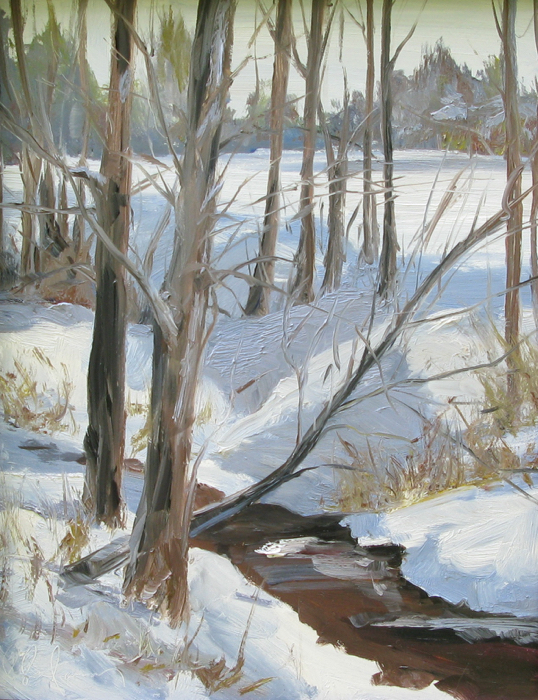 SOLD - Snowy Creek, 14x11, oil