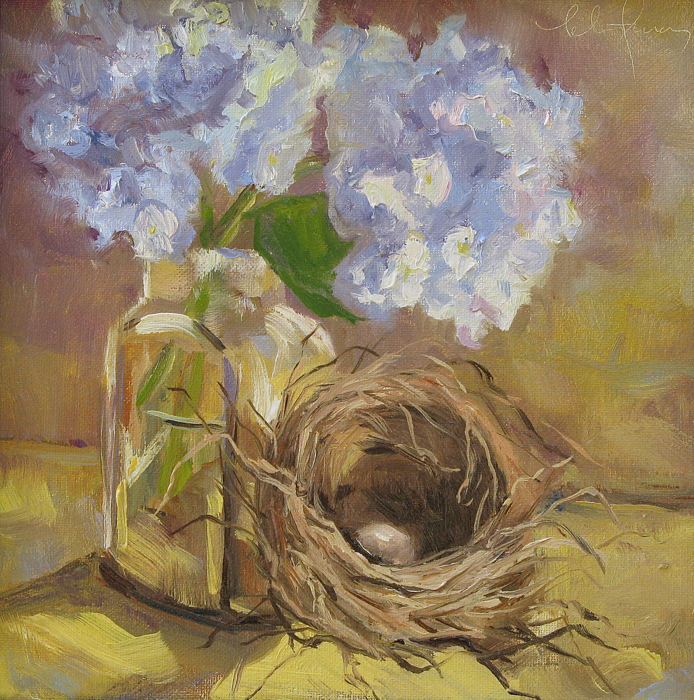 SOLD - Spring Gifting, 8x8, oil