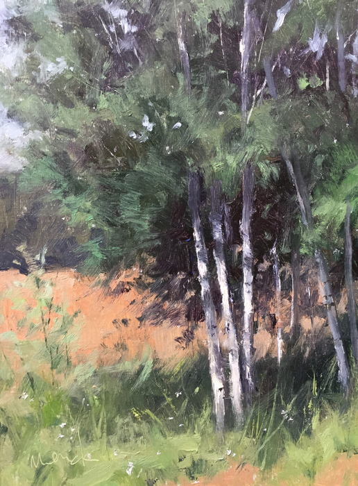 SOLD - Birch Trees, 16x12, oil