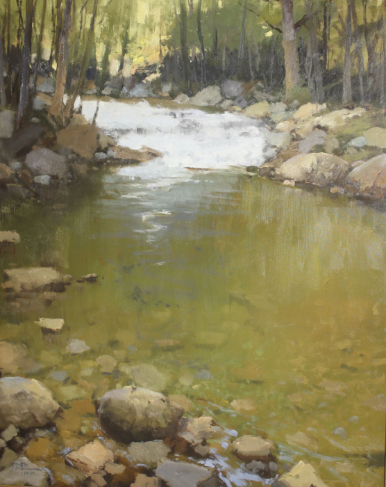 SOLD - Up River, 50x40, oil