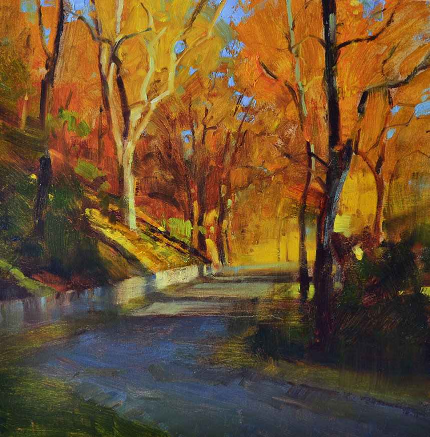 SOLD - Autumn Stroll • 24x24, oil on linen