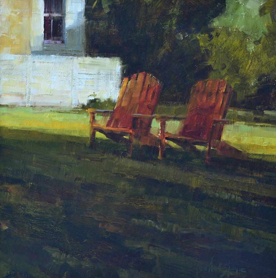 SOLD - Backyard Comfort • 24x24, oil on panel