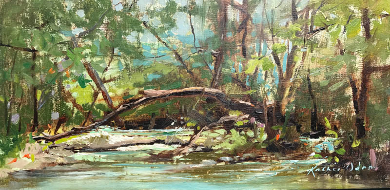 SOLD Creek Livin' • 6x12, oil on linen