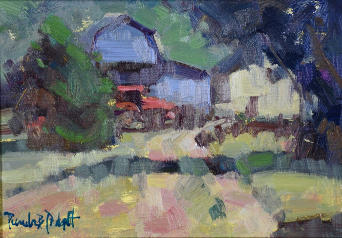 Farm Living Is The Life, 5x7, oil