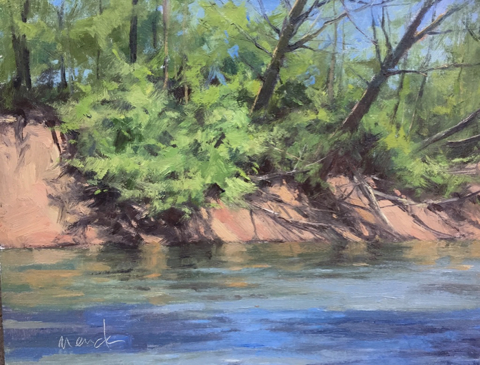 Harpeth River Cut Bank, 14x18, oil