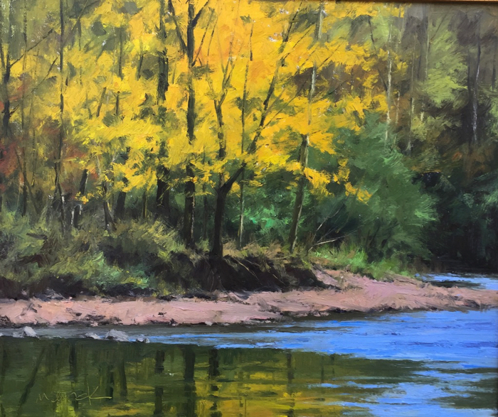 SOLD - November On Garrison Creek, 20x24, oil