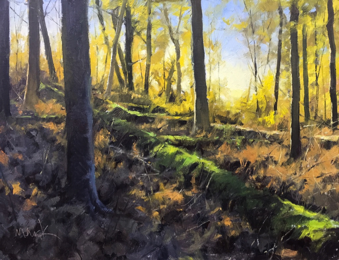 SOLD - The Clearing, 18x24, oil