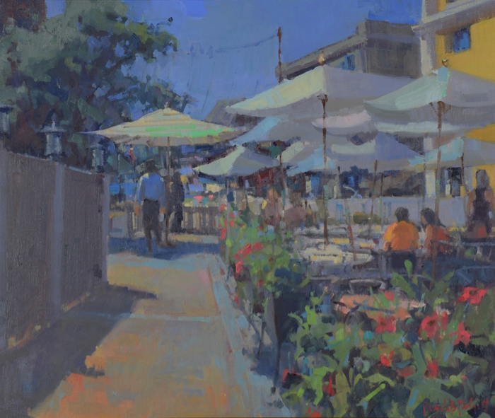 Afternoon Cafés, 20x24, oil