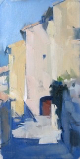 SOLD - Bonnieux Paul Andre, 13x7, oil