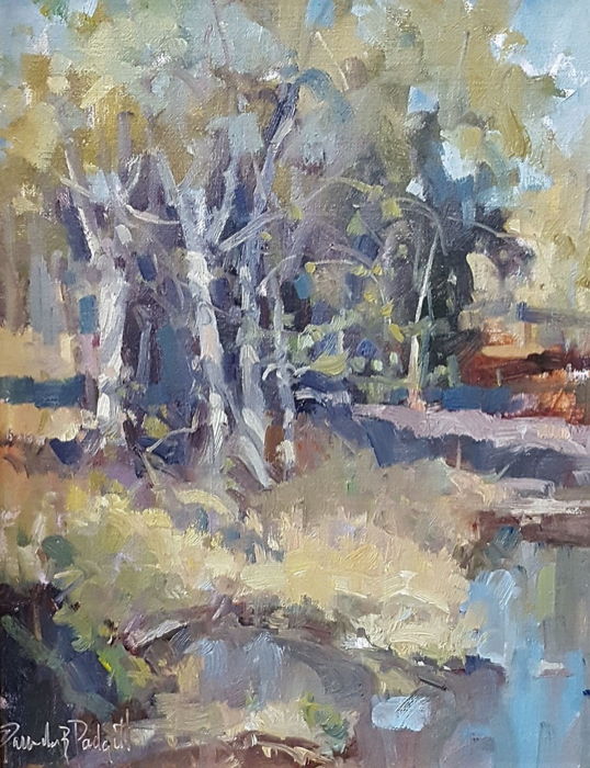 Creekside Congregation, 11x14, oil