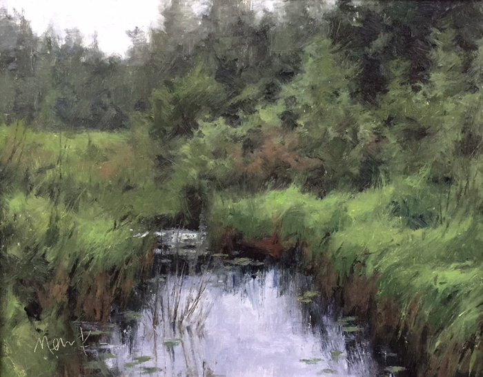 Door County Greens, 14x18, oil