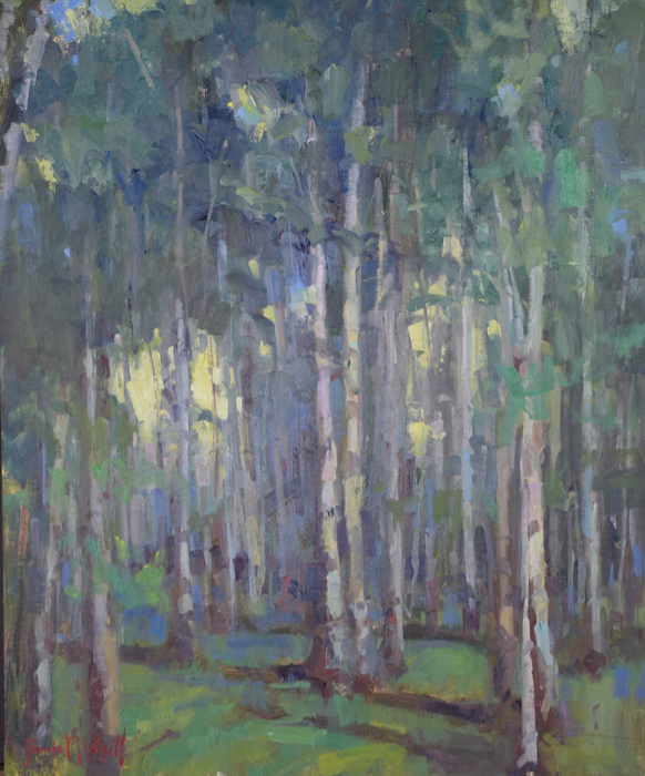 Into The Woods, 20x24, oil