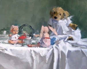 SOLD - Tea Party 24x30, oil