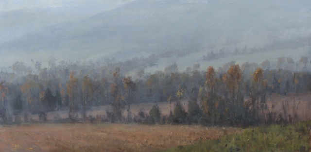 SOLD - Lifting Fog, 30x60, oil