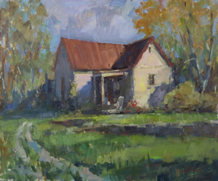A Country Cottage, 20x24, oil