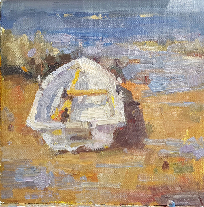 SOLD - Beached, 6x6, oil