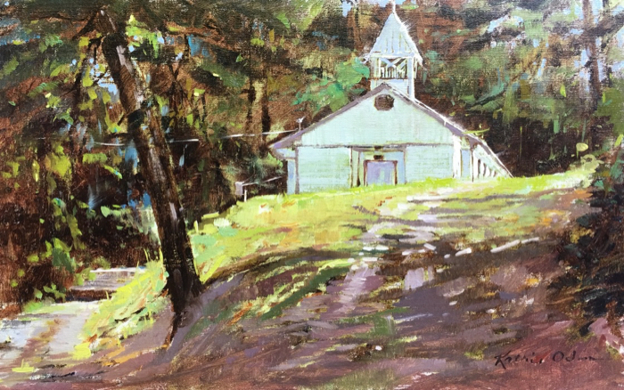 Going To The Chapel, 15x24, oil on linen