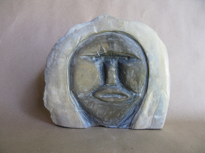 The Wise Man, 9x10x3.5, limestone