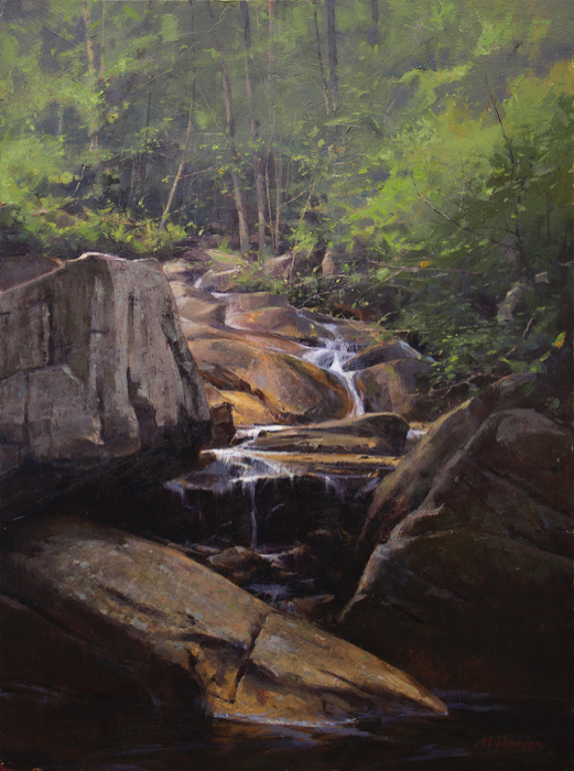 The Pond Branch, 24x18, oil in board