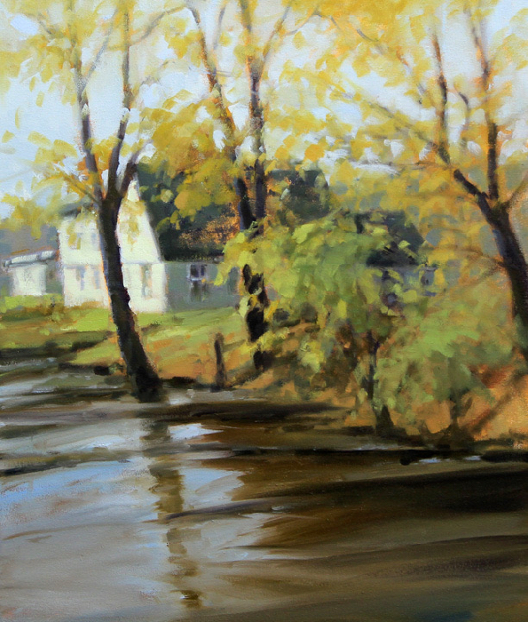 Spring On The Harpeth, 24x20, oil