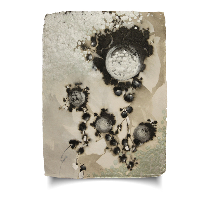 Mine To Tell #15, ink, 30x22, acrylic and powdered graphite on handmade cotton rag paper