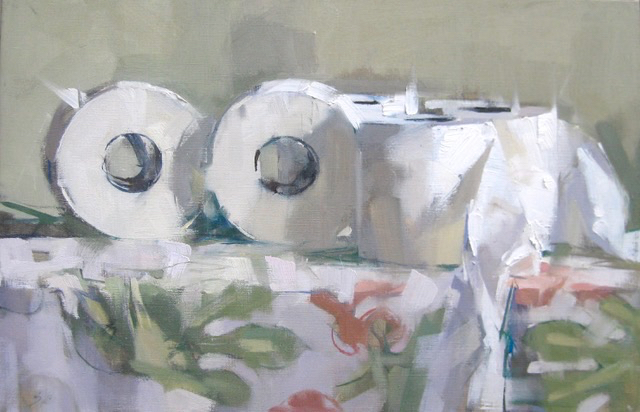 SOLD - Five Rolls, 13x20, oil