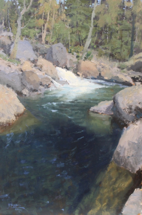 Mountain Stream, 30x24, oil*