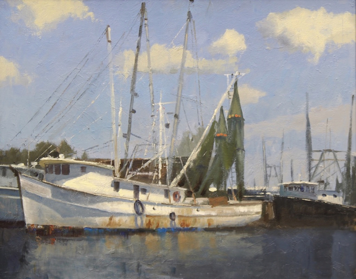 Working Boat, 24x30, oil*