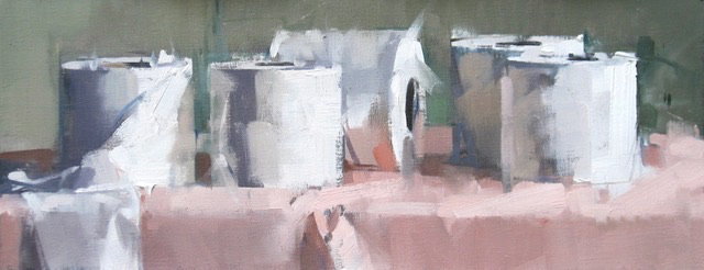 SOLD - TP on Pink H, 8x21, oil